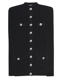 BALMAIN Buttons Ribbed Black