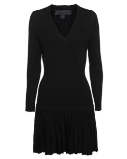 CUSHNIE ET OCHS Cashmere Silk V Neck Flare Black