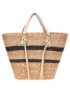 ULLA JOHNSON Surfside Day Straw Basket Beige