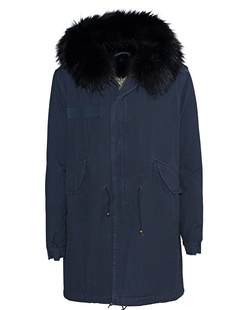 MR & MRS ITALY Shell Fur Hood Navy