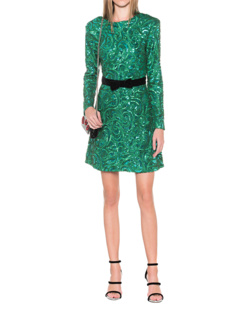 PERSEVERANCE Paisley Sequins Green