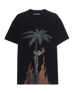 Palm Angels Burning Skeleton Shirt Black
