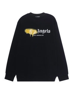 Palm Angels Sweater Sprayed LA Black