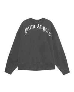 Palm Angels Curved Logo Washed Black