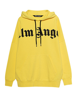 Palm Angels Hoodie Front Logo Yellow