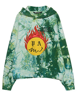 Palm Angels Tie Dye Burning Head Green