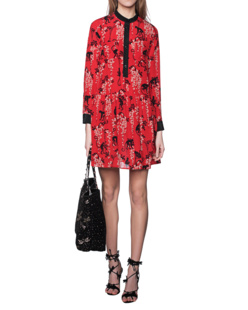 RED VALENTINO Fuoco Silk Red