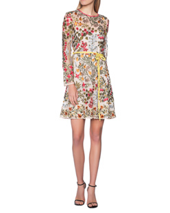 RED VALENTINO Flower Embroidery Short Multicolor
