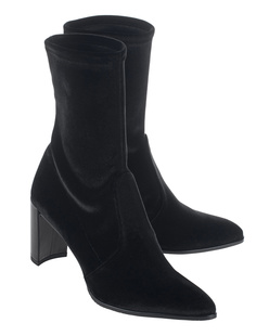 STUART WEITZMAN Prancer Stretch Velvet Black