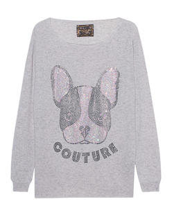 CAMOUFLAGE COUTURE STORK Cashmere Dog Grey