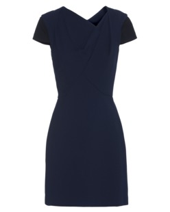 Roland Mouret Lightweight Wool Stretch Dark Blue