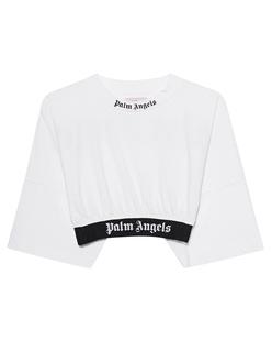 Palm Angels Crop Logo White