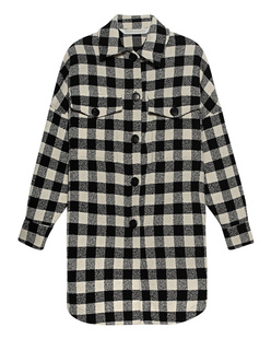 Palm Angels Long Checked Black White