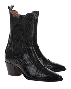 PARIS TEXAS Western Boot Black