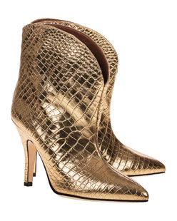 PARIS TEXAS Metallic Croco Gold
