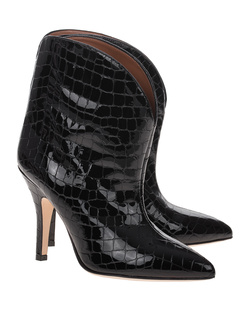 PARIS TEXAS Shiny Croco Black