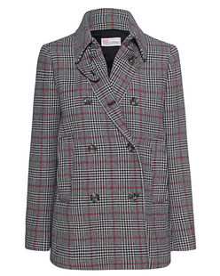 RED VALENTINO Caban Checked Multicolour