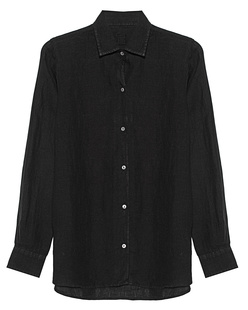 120% LINO Blouse Black