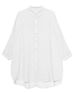 120% LINO Oversize Blouse Bianco White