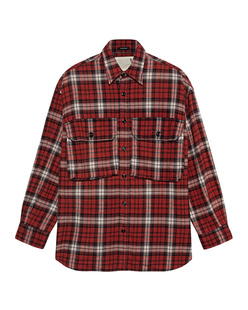 R13 Oversized Plaid Red