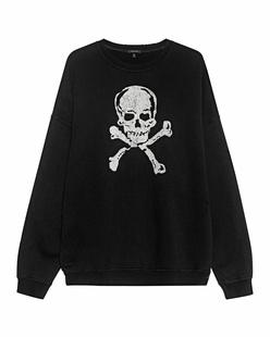 R13 Oversize Skull Black