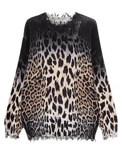 R13 Faded Leopard Black