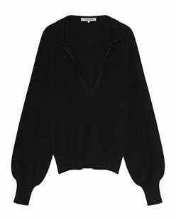 AYLIN KOENIG Rapha V Neck Collar Black