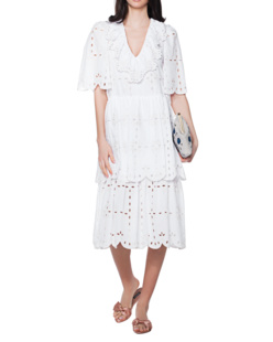 SEE BY CHLOÉ All Over Embroidery White