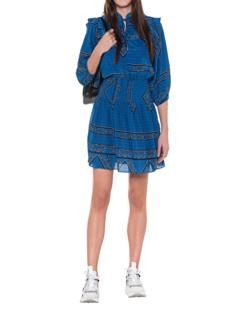 Ganni Cloverdale Silk Lapis Blue