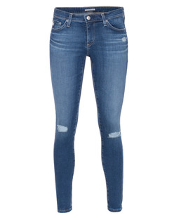 ALEXA CHUNG FOR AG JEANS The Legging Ankle Destroyed Blue