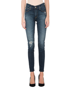 AG Jeans The Farrah Skinny Ankle Destroyed Blue