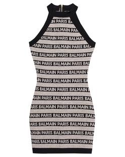 BALMAIN Dress Short Grey