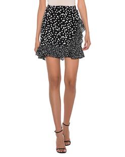 RIXO LONDON Mia Mini Wrap Spots Black White