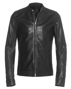 RICK OWENS Windbreaker Leather Black