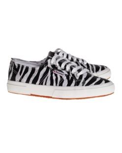 Superga 2750 Cotw Animal Black White