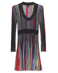 JUST CAVALLI Stripe Knit Swing Multi Black