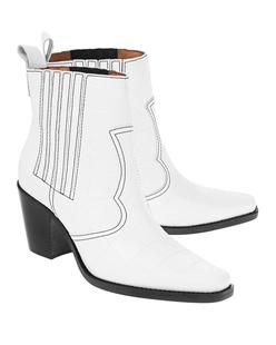 Ganni Callie Leather White