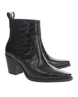 Ganni Western Leather Black