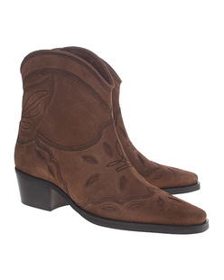 Ganni Low Texas Brown
