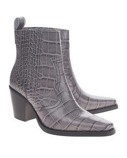 Ganni Western Leather Grey