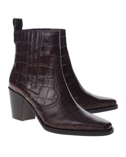 Ganni Western Kroko Brown