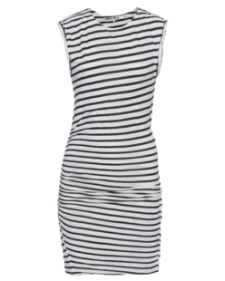 Pam&Gela Linen Muscle Striped Black And White