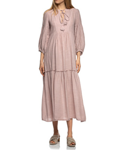 PEARL&CAVIAR Long Linen Dusty Pink