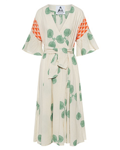 PEARL&CAVIAR Wrap Dress Green