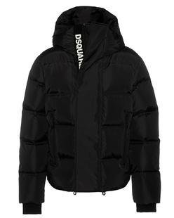 DSQUARED2 Down Hood Logo Zip Black