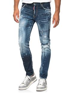DSQUARED2 Skater Jeans Paint Blue