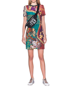 DSQUARED2 Shift Dress Print Multicolor