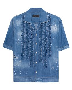 DSQUARED2 Denim Ruffle Blue