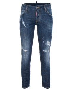 DSQUARED2 Deana Medium Crotch Slim Leg Blue