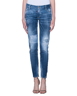 DSQUARED2 Medium Waist Skinny Jean Blue